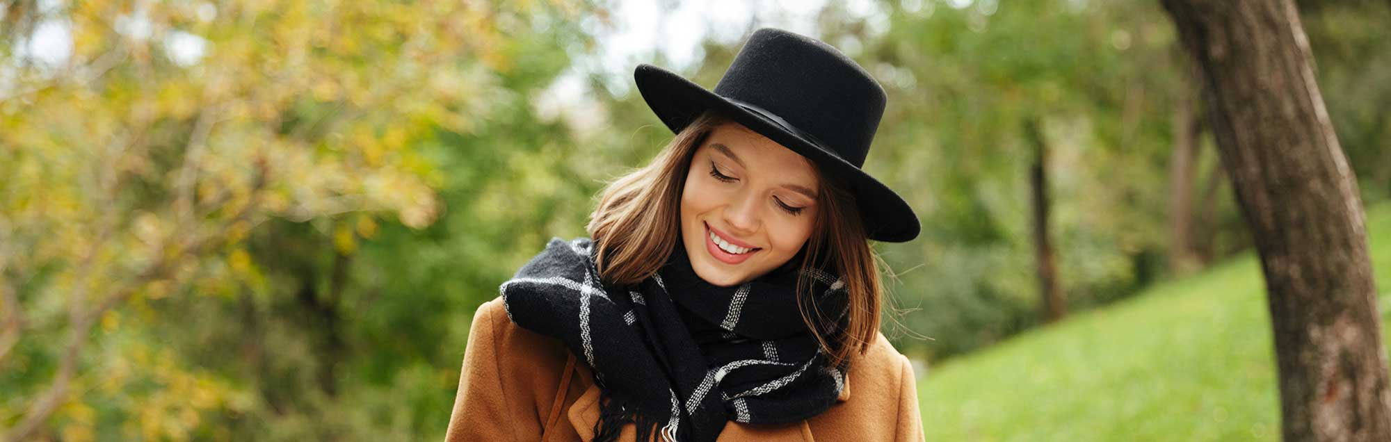 Woman Wearing Hat and Scarf